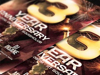 Anniversary Party Flyer -Psd
