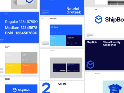 ShipBob - Brand Guidelines website design system mark word logotype mockup logo color typography manual guide graphic visual identity design brand branding