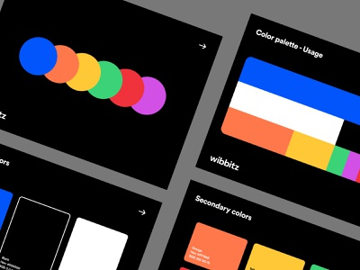 Color System - Wibbitz typography product design web design style guide b2b enterprise branding brand visual identity color palette colors design system ux ui