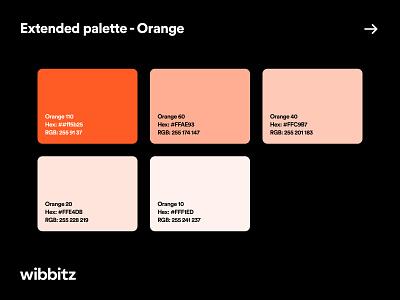 Color System - Wibbitz typography product design web design style guide b2b enterprise branding brand visual identity color palette colors design system ux ui