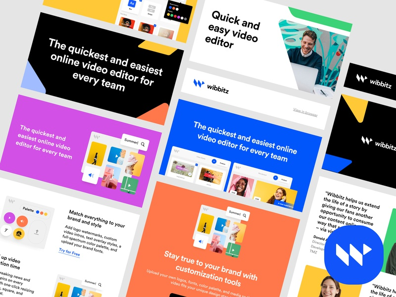 Wibbitz - Email Template guidelines marketo design system visual identitiy brand branding modules template web marketing mail mailchimp design newsletter email