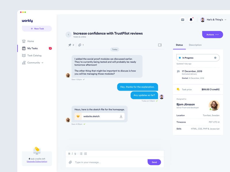 Workly - Task Management