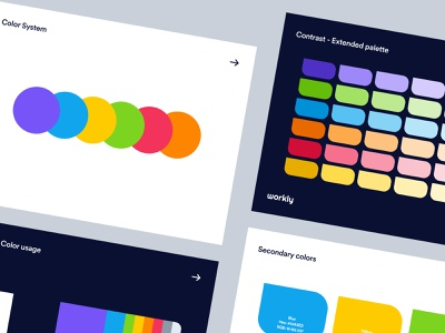 Workly - Color System product design web design tool app web dashboard colorful balance contrast user experience interface design ux ui branding style guide design system scheme color colors palette