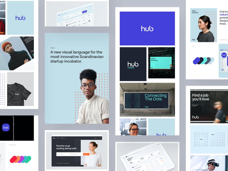 The Hub - Behance Case Study 2 typography mobile web design product design behance case study graphic design logo guidelines brand book visual identity brand branding use experience user interface ux ui web website design