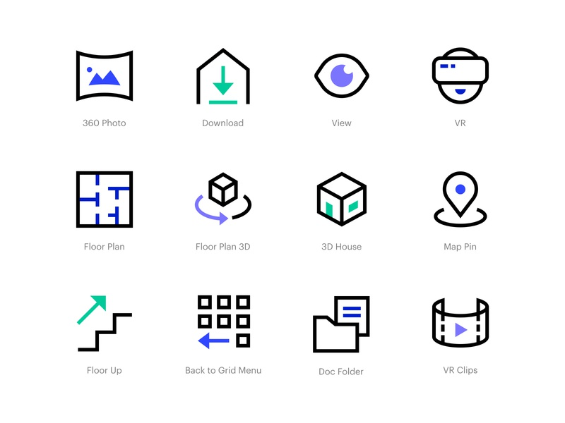 Spec - Icons interface vector uxui website app uidesign uxdesign experience user dashboard userinterface 64px web design iconography icons ux ui
