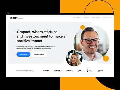 PlusImpact - Hero Exploration impact report ui design website web design user experience user interface colors branding typography animation product design web design ux ui