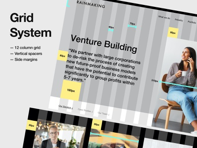 Rainmaking - Grid System mobile app website web design how to colors typography user experience user interface ux design ui design guides product design web design layout grid