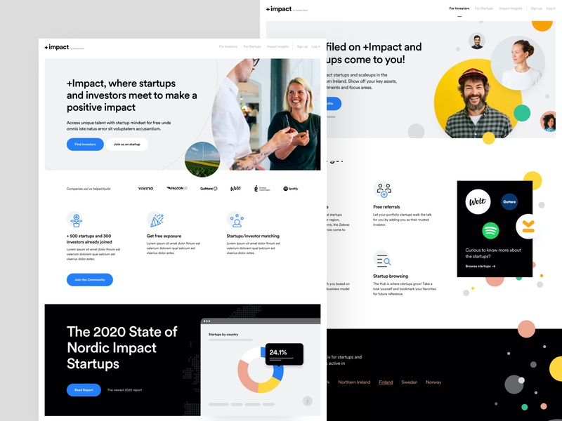 PlusImpact - Website web design colors typography user experience user interface ux design ui design dashboard branding style guide report website web design product design