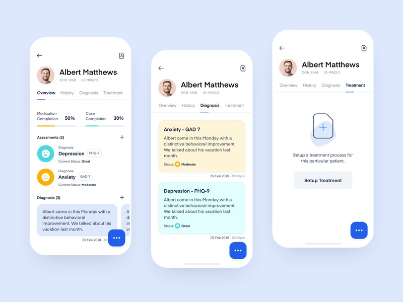 M - Patient Environment interface ux health mobile ui app design user experience ui iphonex dashboard patients doctors ios web design product design healthcare medical application mobile app