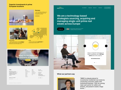 Immo Capital - Home Ver #2 interface design balkan brothers management investments proptech b2b saas technology property website web design product design real estate wordpress cms development research ui ux design