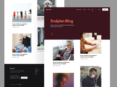 Endplan - Blog design system clean colors typography saas b2c visual identity branding balkan brothers website user experience user interface post resources article blog web design product design ux ui