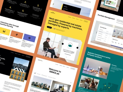 Immo Capital - Website Layouts balkan brothers technology proptech property investment enterprise b2c saas interface design ux design ui design ux ui product design website web design grid design system modules layout