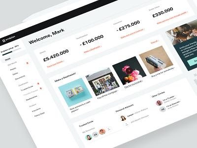 Endplan - Web app fintech finance asset management balkan bros bb agency clean b2c saas web design app user experience interface design product design web app dashboard ux ui