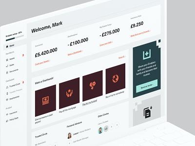 Endplan - Web App Home website clean finance app fintech balkan bros b2c saas design user interface interface dashboard web app web design product design user experience user research ui ux