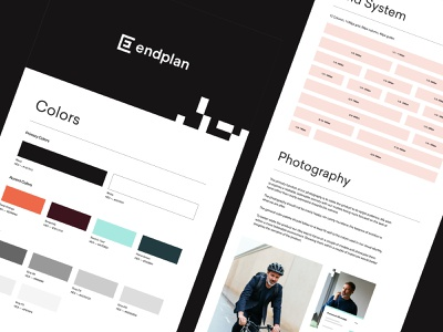 Endplan - Style Guide website user interface user experience balkan bros web design product design ux ui layout grid guidelines colors typography photography style guide