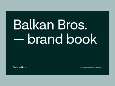 BB Agency - Brand Book concept tone of voice balkan bros agency logotype illustrations wordmark copywriting brand architecture animation brand typography colors style guide guides logo design brand book visual identity branding