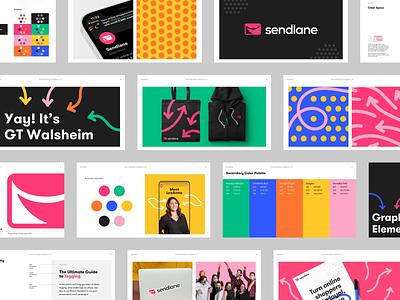 Sendlane - Visual Identity graphic design agency discovery email marketing b2b saas stickers animation illustrations patterns icon colors typography guidelines logotype logo visual identitiy brand strategy brand development branding