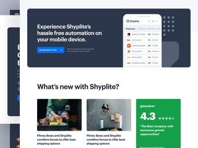Shyplite - Home b2b transport shipping symbol design user experience app dashboard user interface brand logo visual identity branding marketing saas product design web design website ux ui