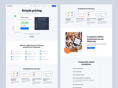 Shyplite - Inner Pages research app interface design agency transport shipping b2b saas branding cms webflow design user experience user interface website marketing web design product design ux ui