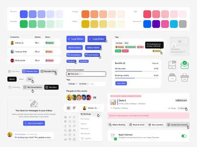 Nexudus - Design System web cart alerts tags 4px spacing organisms table input fields buttons website app dashboard icons typography colors grid spacing components product design design system