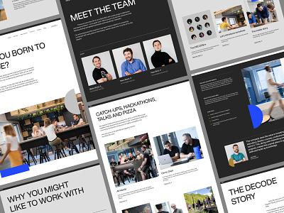 DECODE - Careers design system modular b2b wordpress development cms bbagency agency careers about us visual identity branding website design web product design ux ui