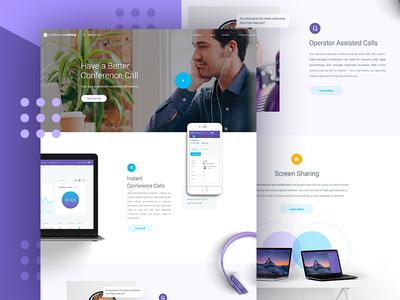 CC - Homepage WIP b2c app clean homepage website user experience ux ui design web