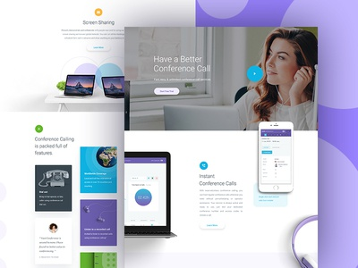 CC - Homepage WIP - Part 2 clean b2c business conference landing page homepage website ux ui design web