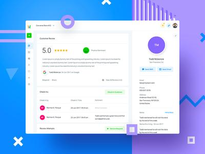 HL - Customers analytics design dash charts app web experience interface user dashboard ux ui