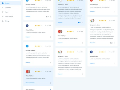 HL - Reviews reviews web dash charts dashboard app analytics experience ui ux interface user