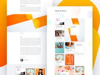 Surge - Blog layout page home lander website web design experience user ux post blog