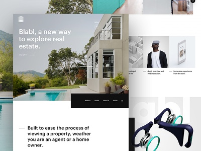 S - Lander new property experience user ui ux real estate home website lander design web