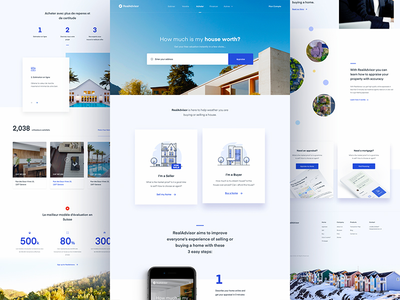 Real Advisor - Home web design website home landing page ux real estate property user experience