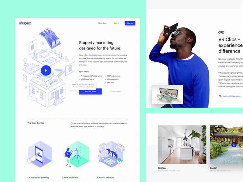 Spec is Live! illustrations real estate property lander design web website ux ui