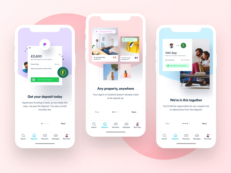 Patch iOS - Onboarding user interface dashboard design app sign up onboarding ios mobile user experience interface ux design ui design ux ui mobile app