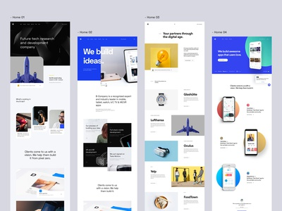B - Homepage Style Explorations
