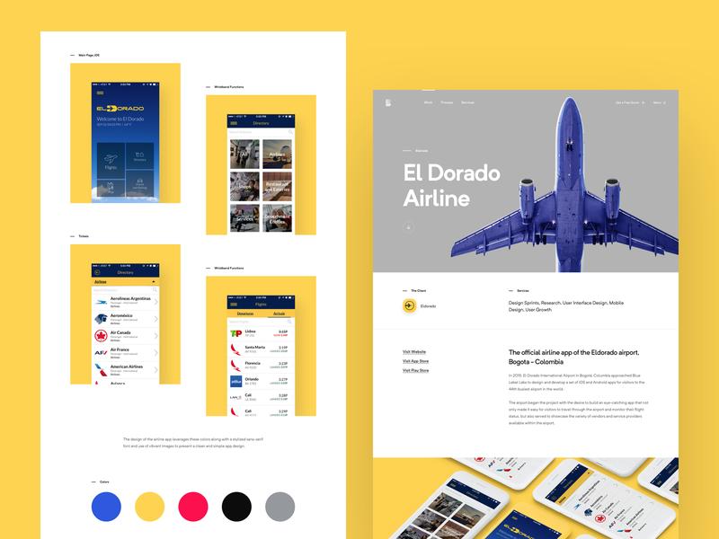 BLL - Case Study #1 development responsive agency portfolio case study landing lander page home app website web design ux ui