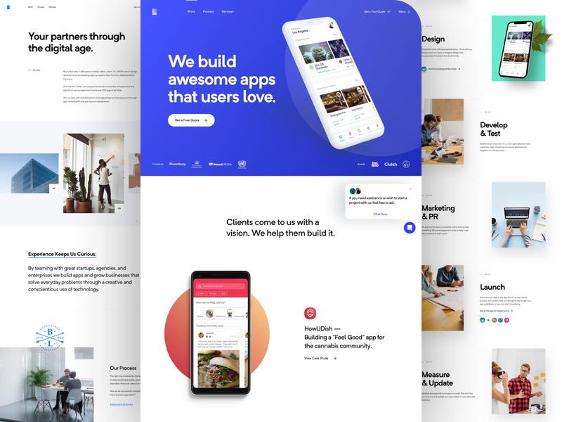 BLL - Inner Pages development logo branding portfolio ux ui landing website page home agency app design web design
