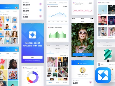 Ico - Mobile App mobile app experience mobile app development design user experience user interface ux ui dashboard table charts analytics android ios app mobile app