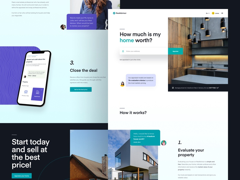 RA - New Website Exploration ui ux web design website real estate landing lander page user experience interface dashboard typogrpahy property