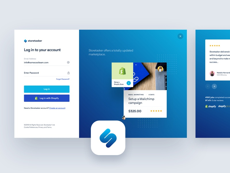 StoreTasker - Onboarding app web bbagency balkan brothers design ui design ux design experience interface user process signup process onboarding sign up login dashboard ux ui