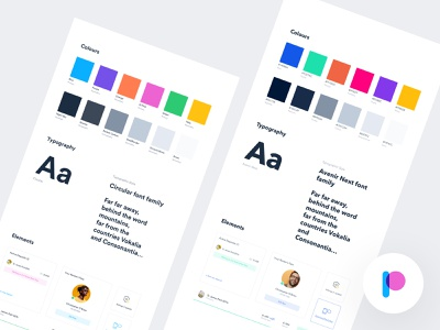 Patch - Style Guide Explorations visual language brand color colors palette experience interface user ui kit dashboard app website web design design system ux ui style guide