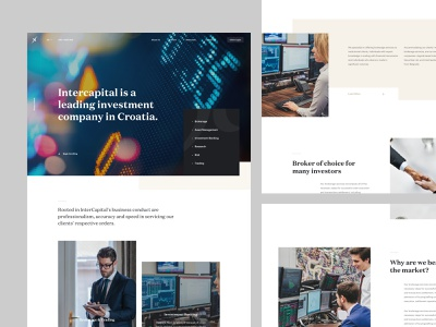 InterCapital - Lander interface experience user ux ui business b2c bank investment home page landing lander website design web
