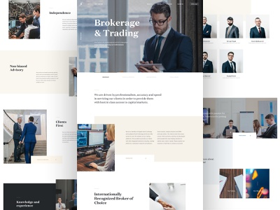 InterCapital - Brokerage & Trading user experience user interface ux ui venture capital b2c b2b dashboard company app investing bank investment lander page landing website design web