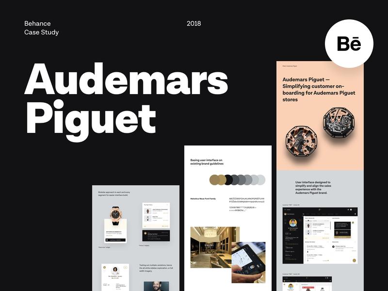 Audemars Piguet - Behance Case Study watches audemars piguet typography colors web design application user interface user experience store web app behance case study dashboard ux ui