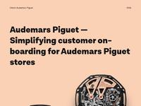Audemars  case study 1x