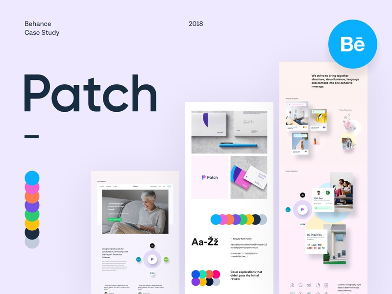 Patch - Website - Case Study logo branding page landing behance project real estate rental mobile app dashboard user experience user interface ux ui design website web case study behance