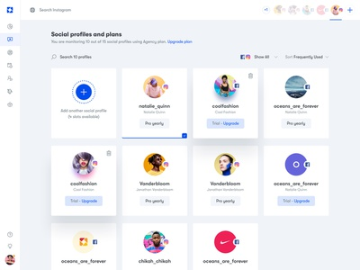 Ico - Social Profiles ui ux dashboard uidesign interface charts analytics ui elements ux design uiux user experience design web app web app uxresearch experience user clean