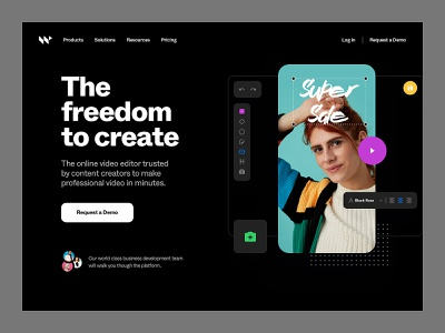 W - Hero Exploration design system ui kit style guide typography colors brand app user interface user experience tool editor video website web design ui ux