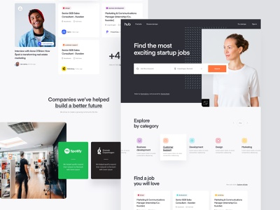 TheHub - Style Exploration 09 landing page product design web design colors branding brand visual language explore style user experience user interface ux ui layout listing dashboard app lander design website