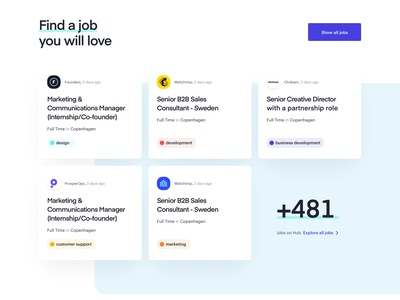 TheHub - Style Exploration 10 product design web design site home icons dashboard responsive development modular clean art direction visual language exploration style finder jobs search app design website